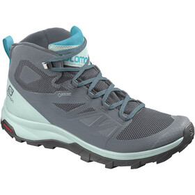 Salomon Outline Mid GTX Schoenen Dames, stormy weather/icy morn/bluebird